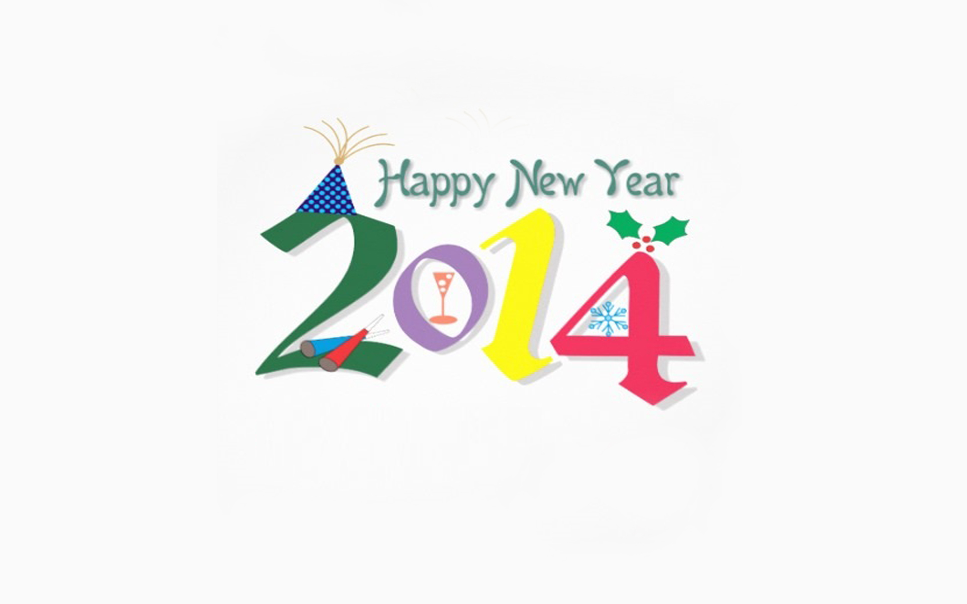 Abstract 2014 Free Happy New Year Wallpaper Wallpaper