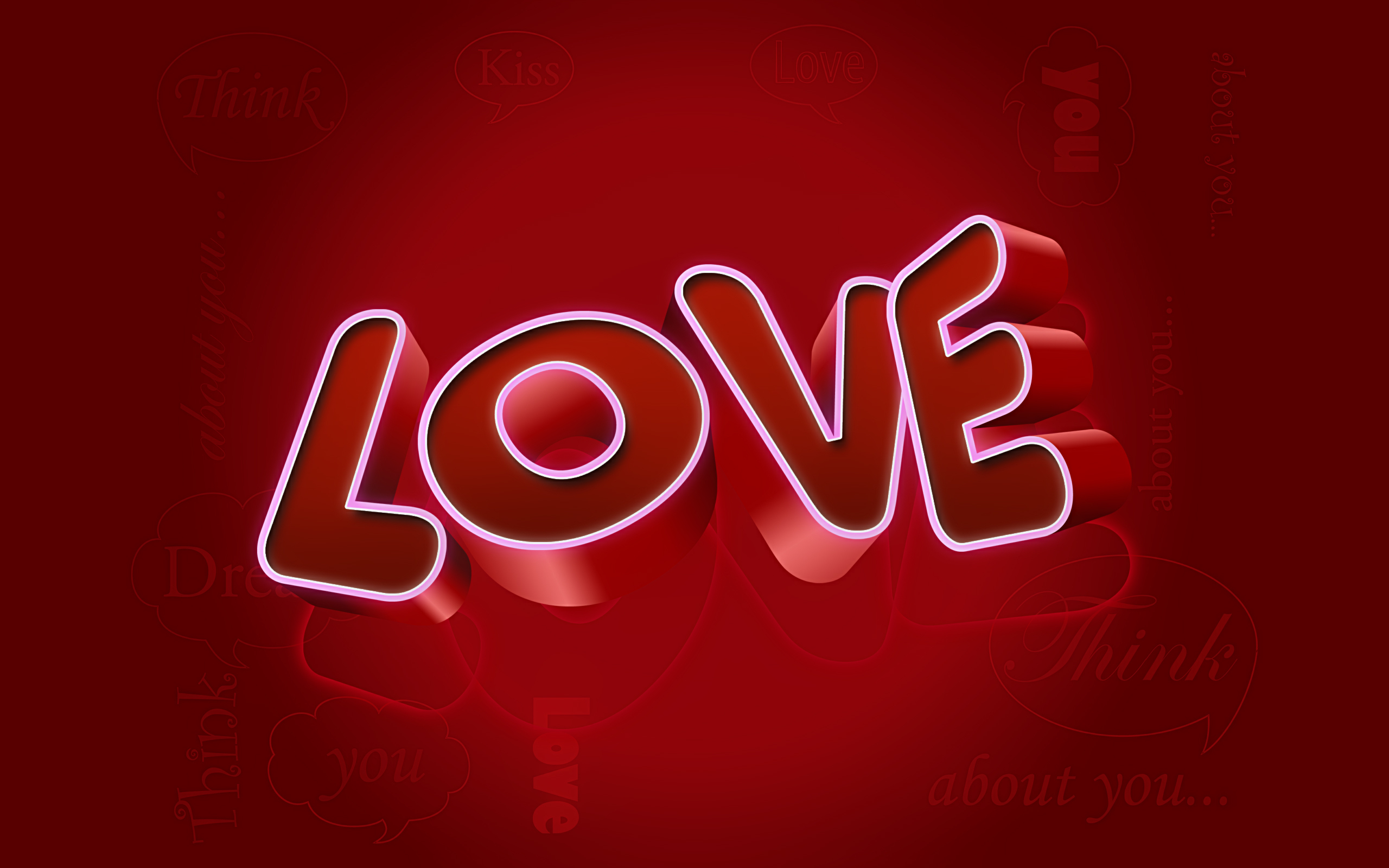 Abstract 3d 3d Wallpaper Of Love Wallpaper
