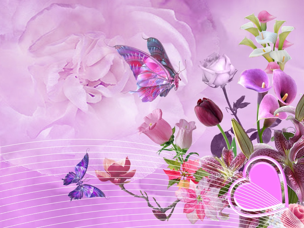 Abstract 3d Lovely Wallpaper Of Love Wallpaper
