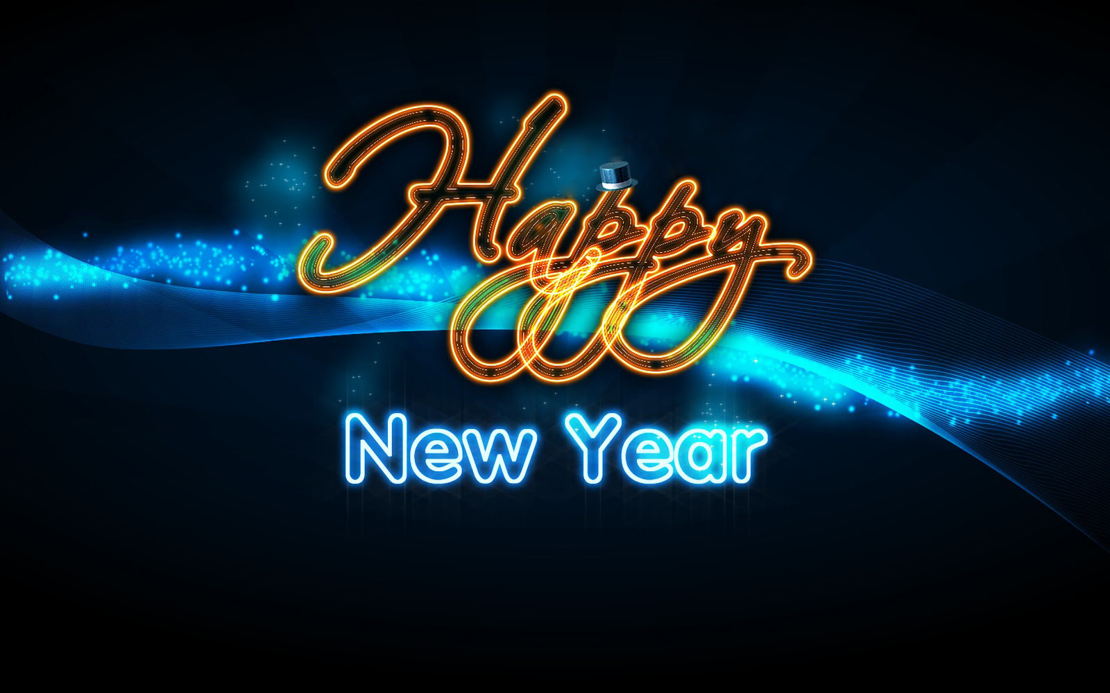 Abstract Free Free 2014 Happy New Year Wallpaper Wallpaper
