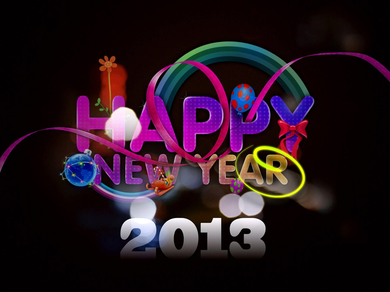 Abstract Free Free Happy New Year Wallpaper Wallpaper