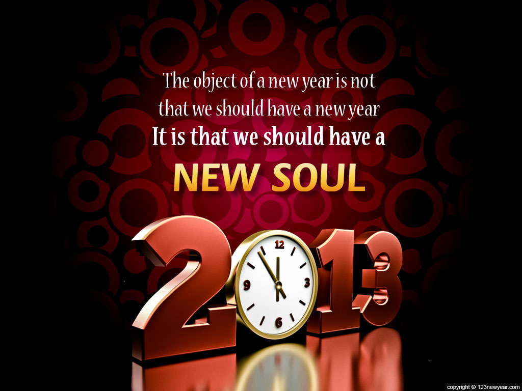 Abstract Free New Year Wallpaper 2013 Wallpaper