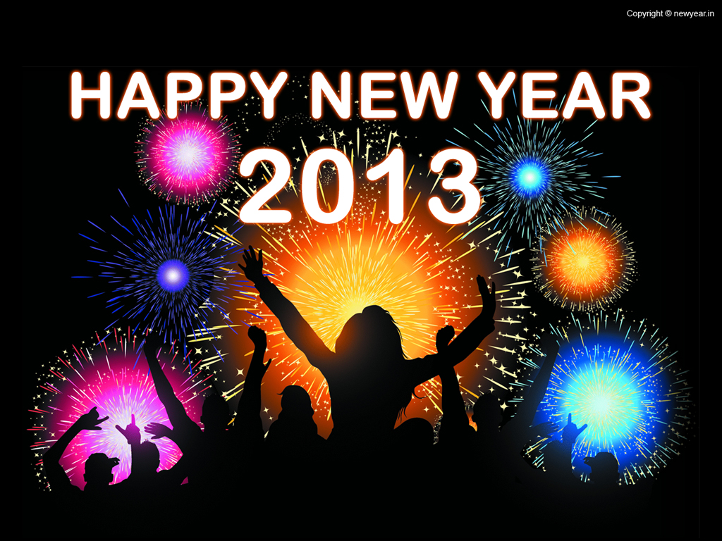Abstract Free Wallpaper New Year 2013 Wallpaper