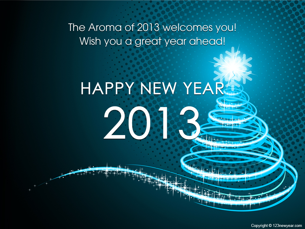 Abstract Happy New Year Wallpaper 2013 Wallpaper