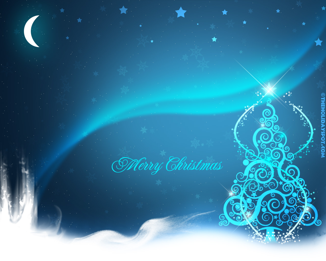 Abstract Merry Christmas And Happy New Year Wallpaper Wallpaper