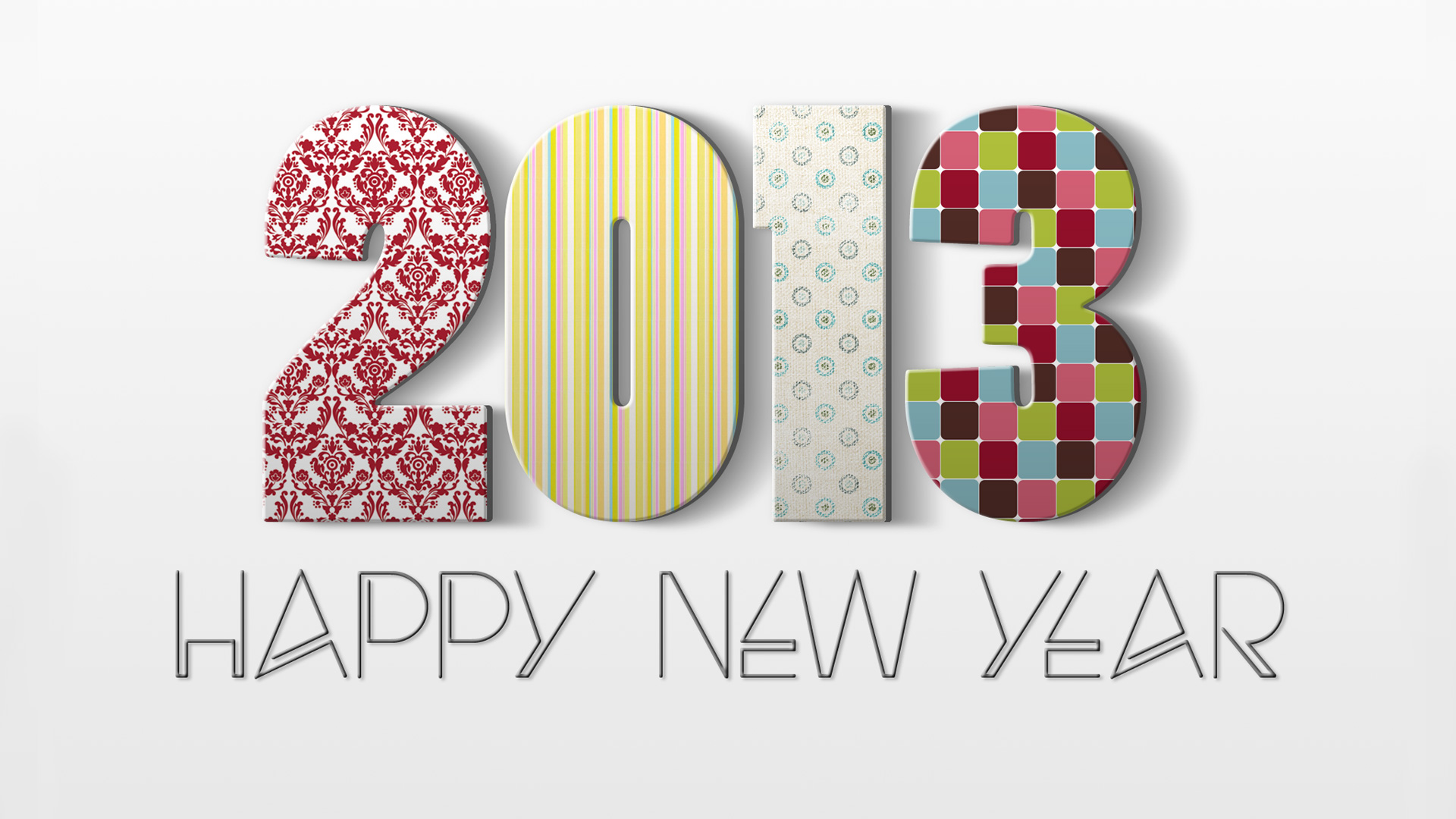 Abstract New Year Wallpaper 2013 Hd Wallpaper