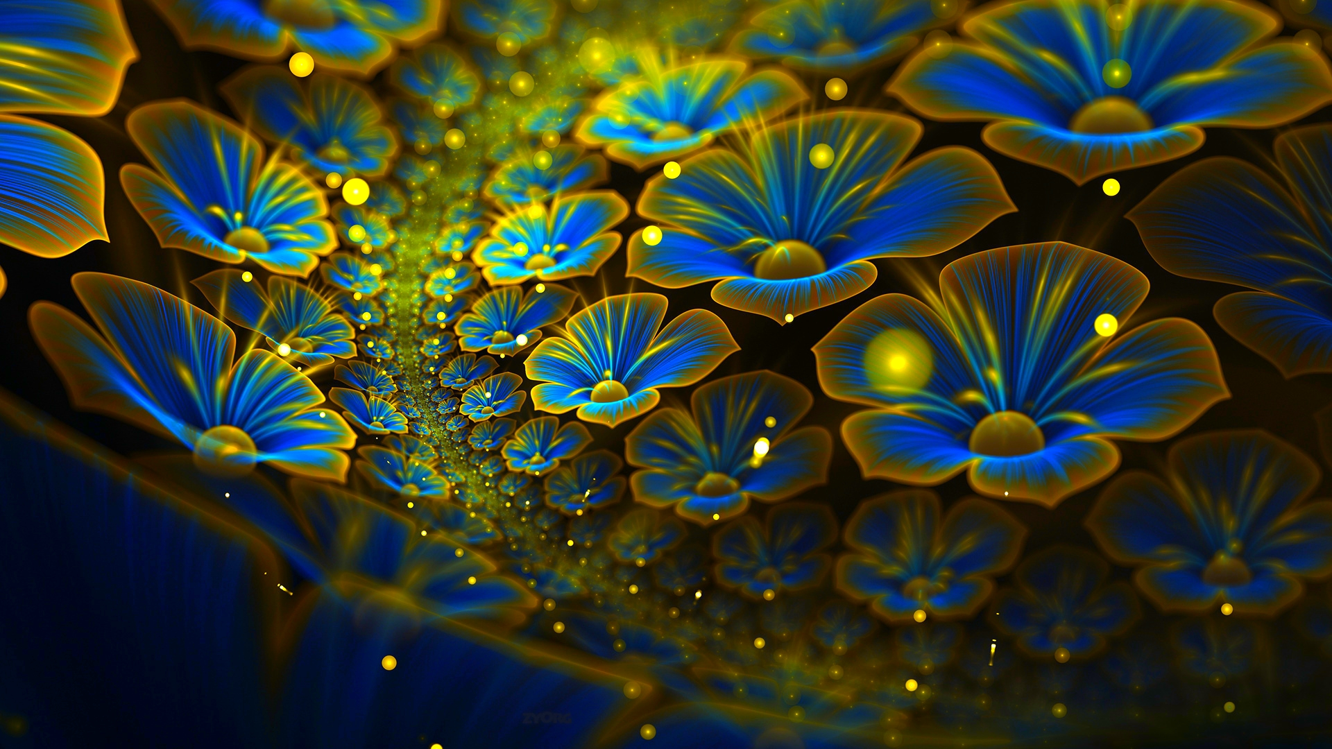 Abstract Anime Nature Wallpaper 1920 X 1080 Wallpaper