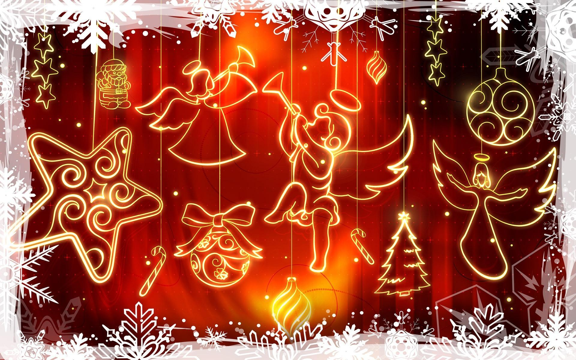 Abstract Christmas Christmas Wallpaper 1920 X 1080 Wallpaper