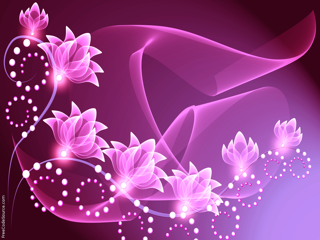 Abstract Free Desktop Wallpaper Pink Flowers Wallpaper