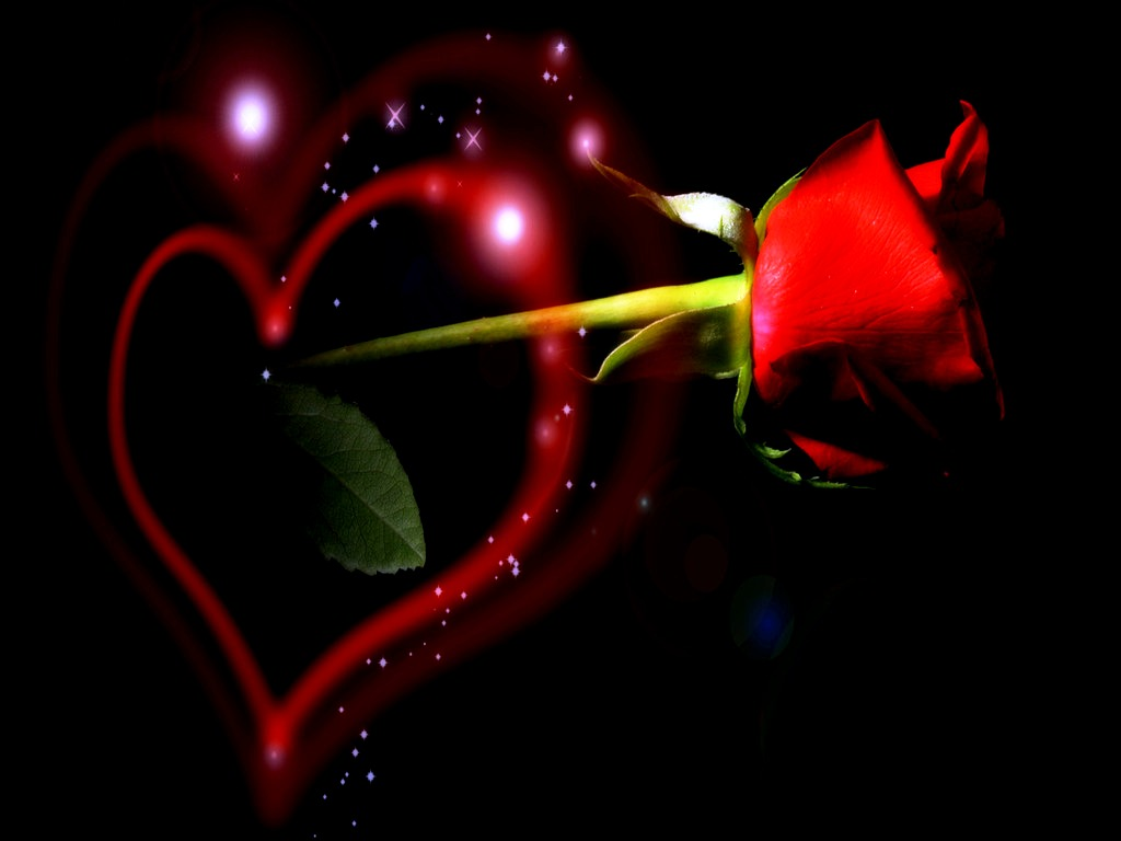Abstract Free Wallpaper Animations Of Love And Hearts Wallpaper