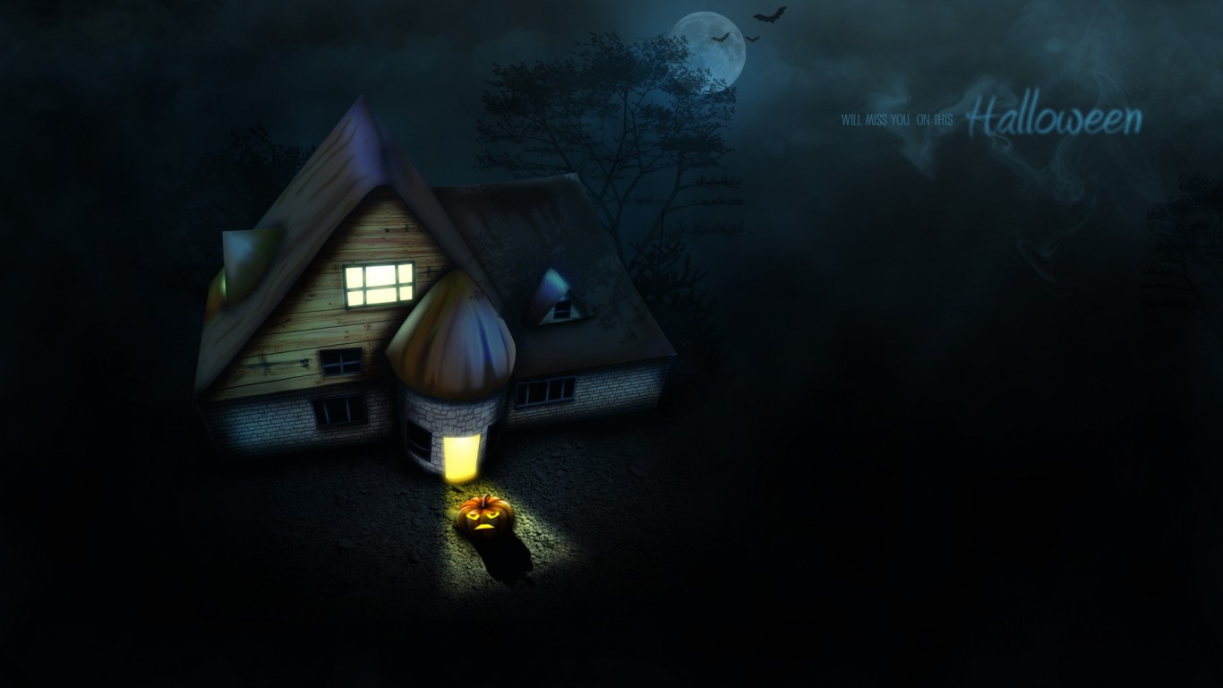 Abstract Halloween Widescreen Wallpaper 1600 X 900 Wallpaper