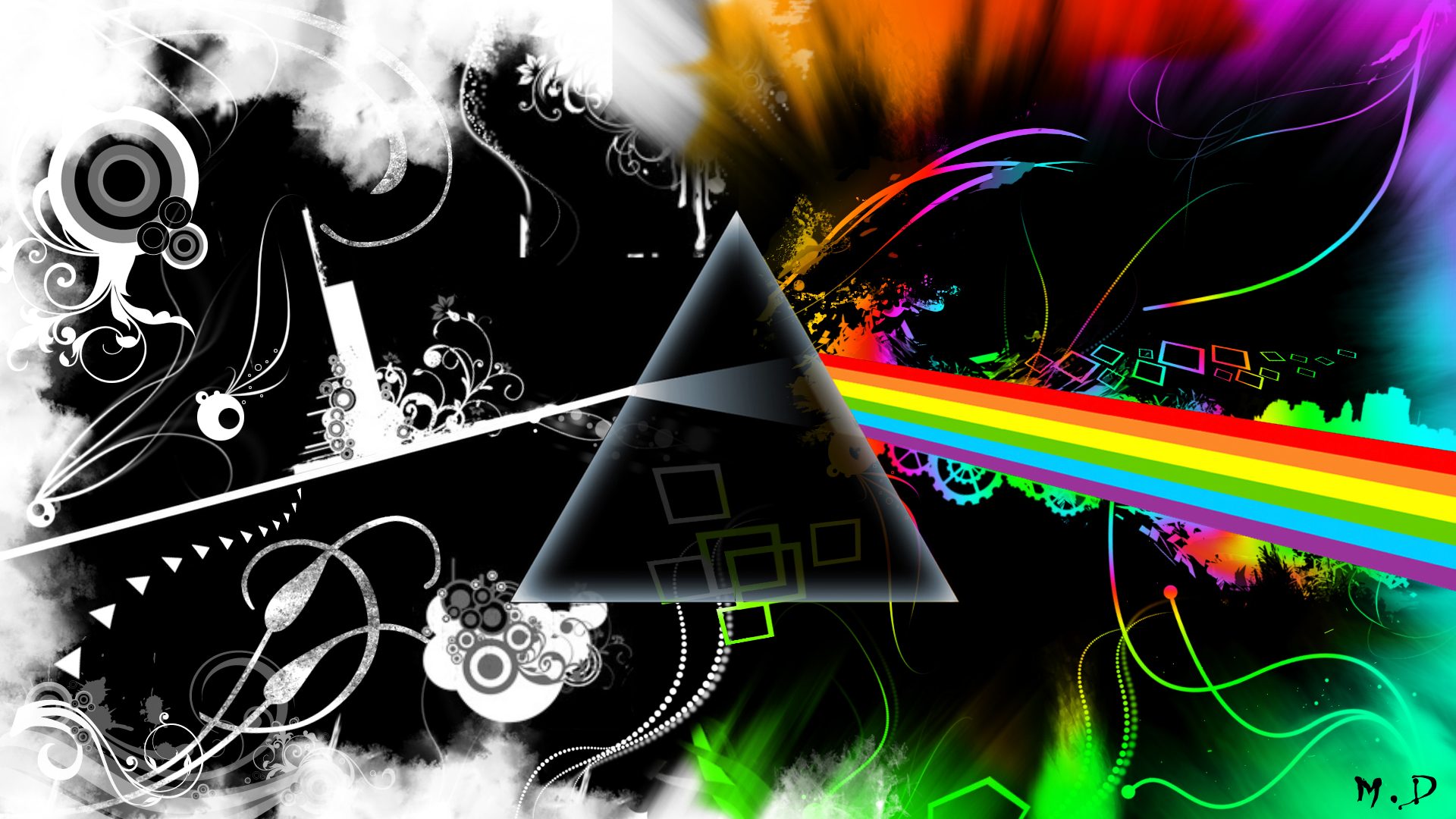 Abstract Nook Free Wallpaper Pink Floyd Wallpaper