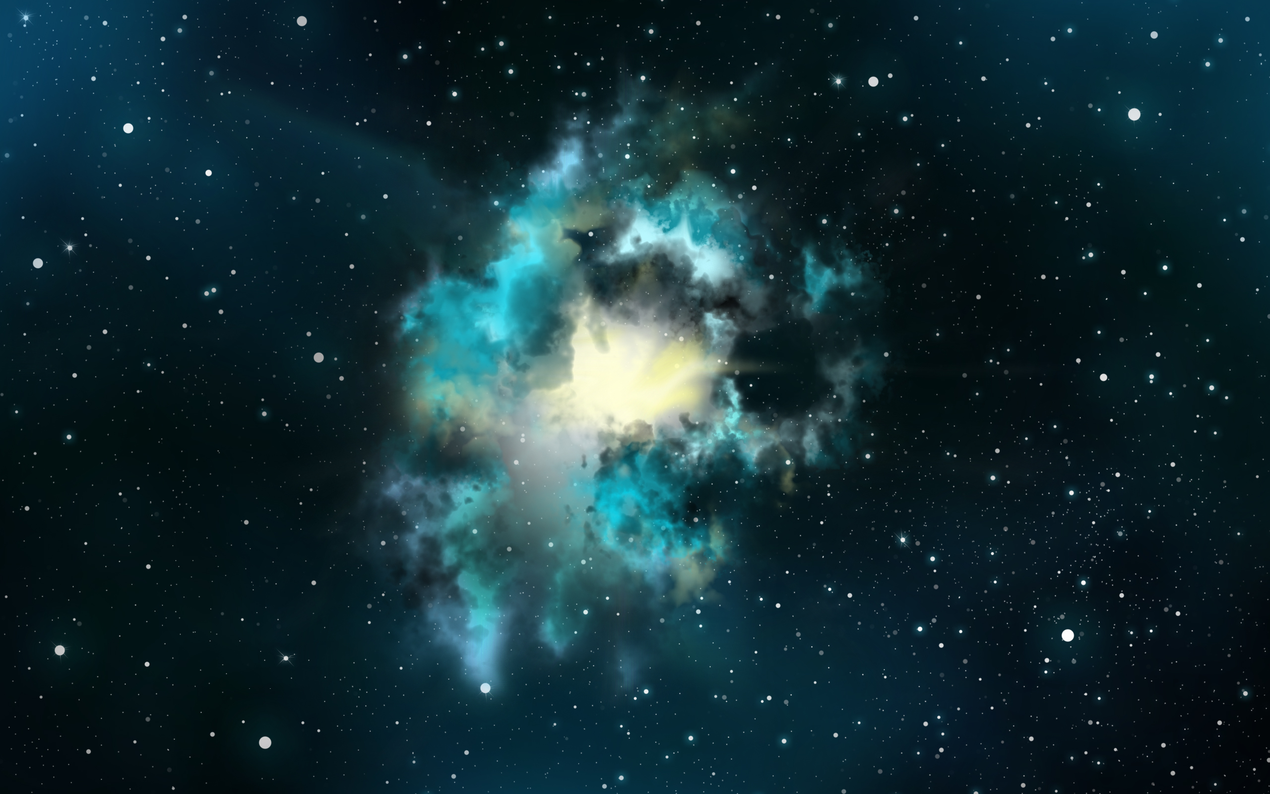 Abstract Space Christmas Wallpaper 2560×1600 Wallpaper