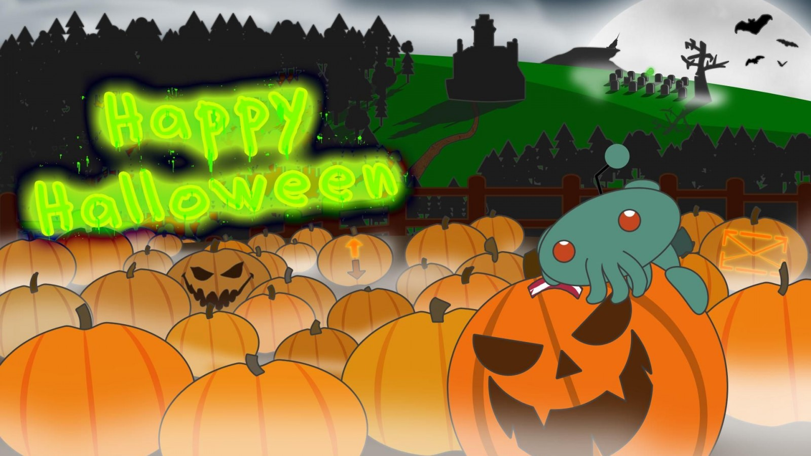 Abstract Widescreen Halloween Wallpaper 1600 X 900 Wallpaper