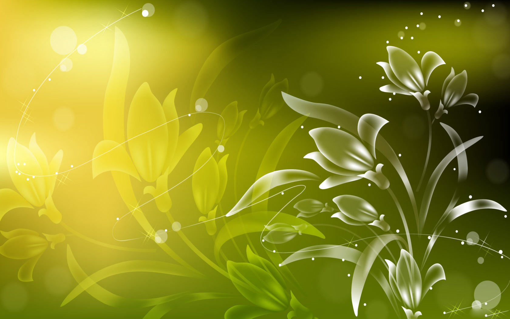 Free Abstract Vector Floral Wallpaper