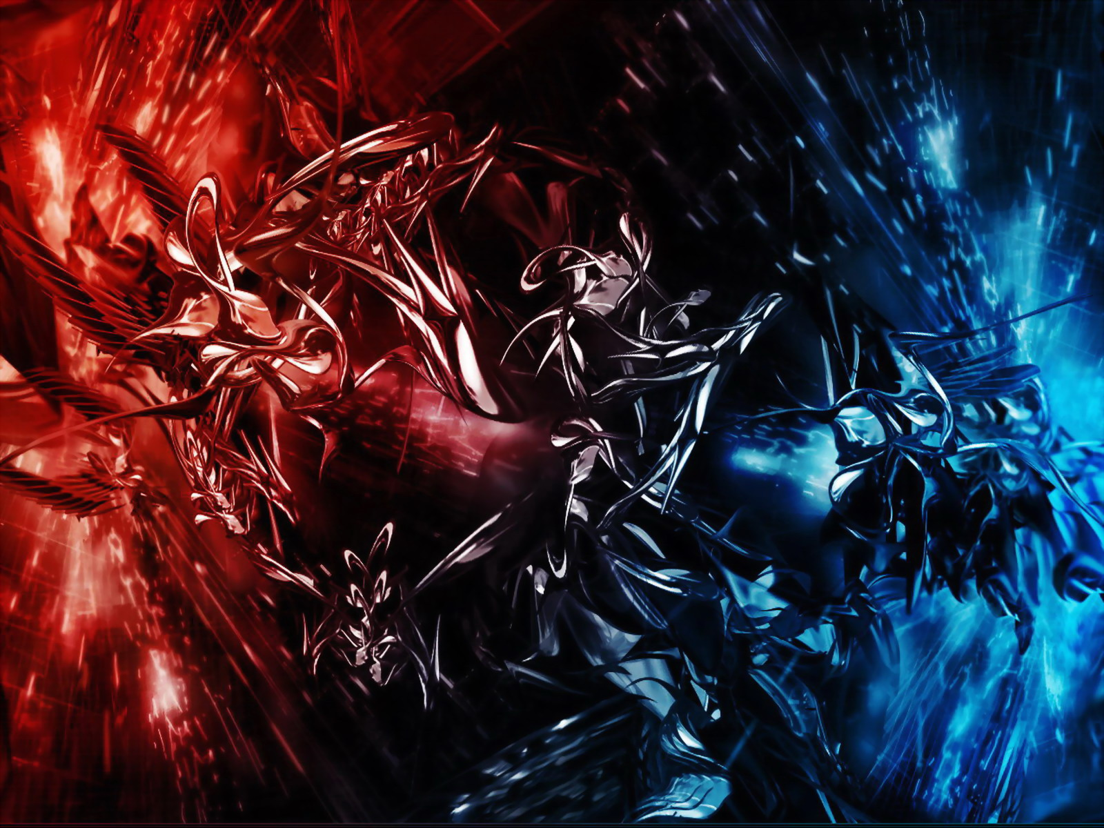 Free Colorful Dark 3d Abstract Wallpaper Downloads Wallpaper