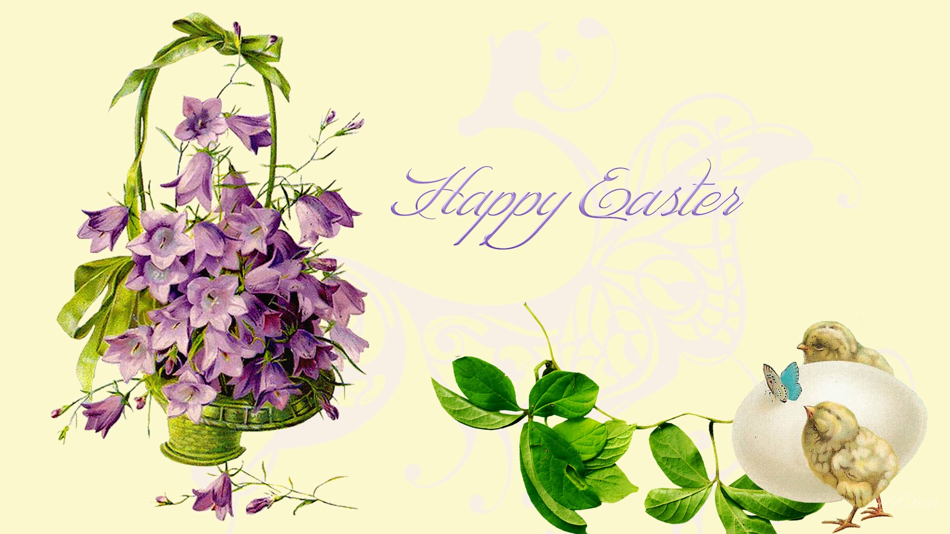 Green Abstract 1080p Easter Wallpaper Free Wallpaper