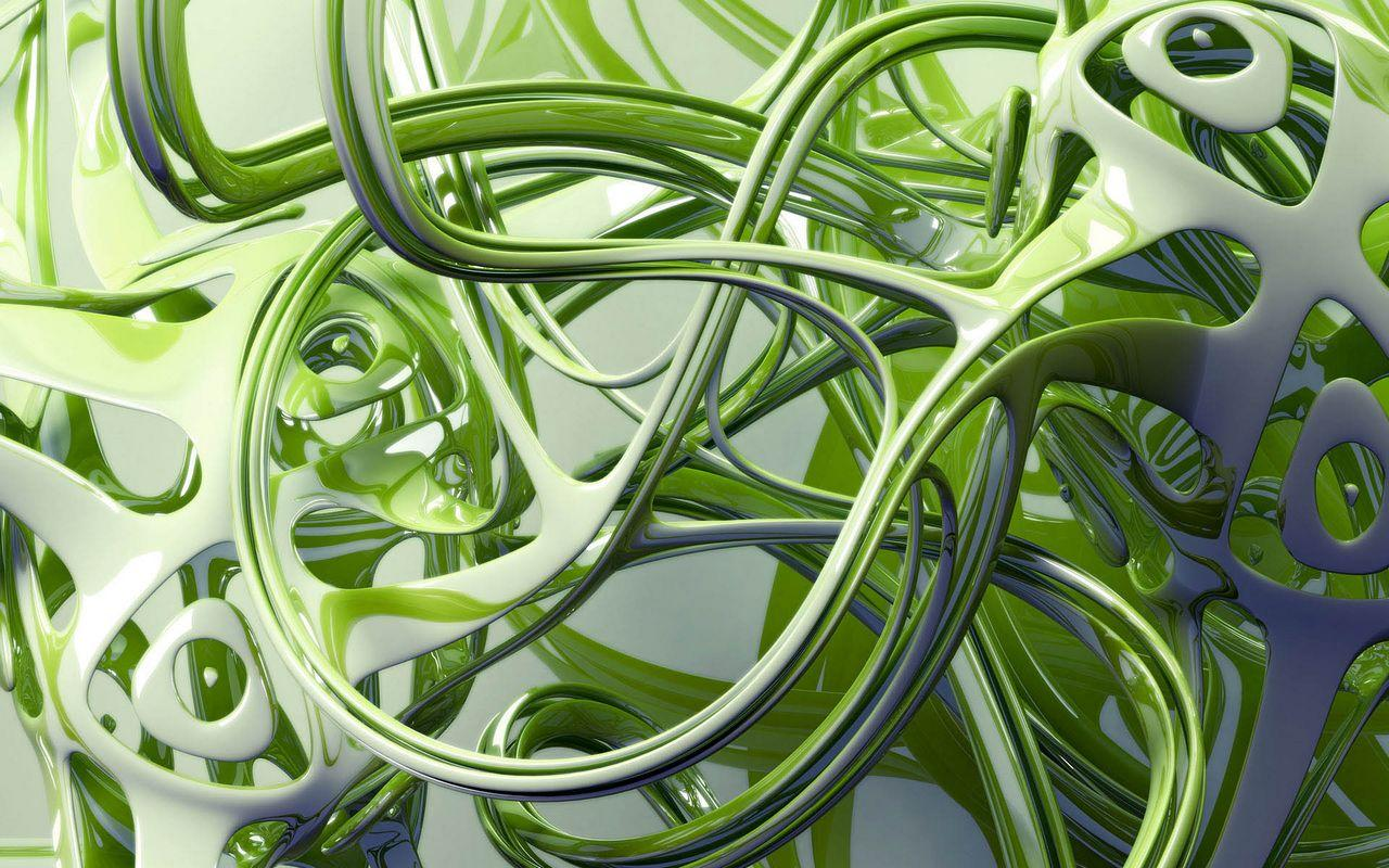 Green Free 3d Abstract Wallpaper Desktop Wallpaper