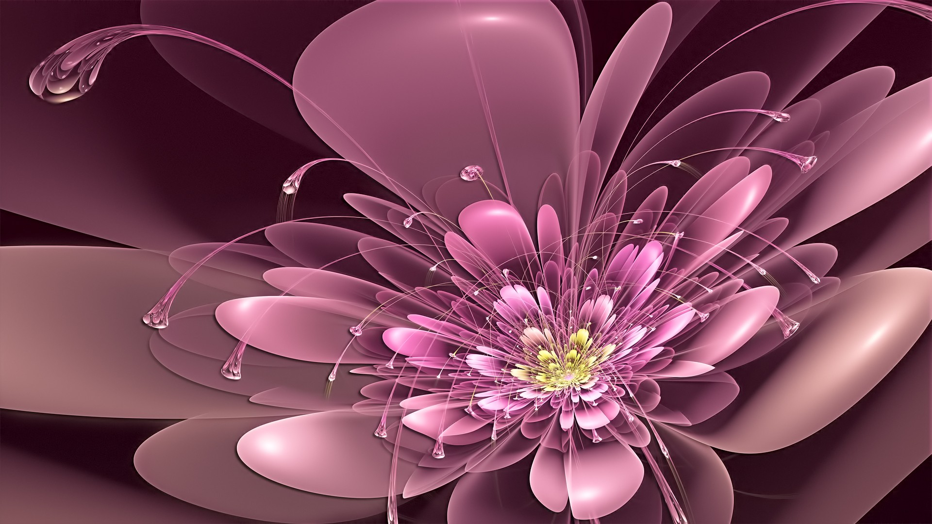 Hd Wallpaper Painting Of Abstract Flowers Wallpaper