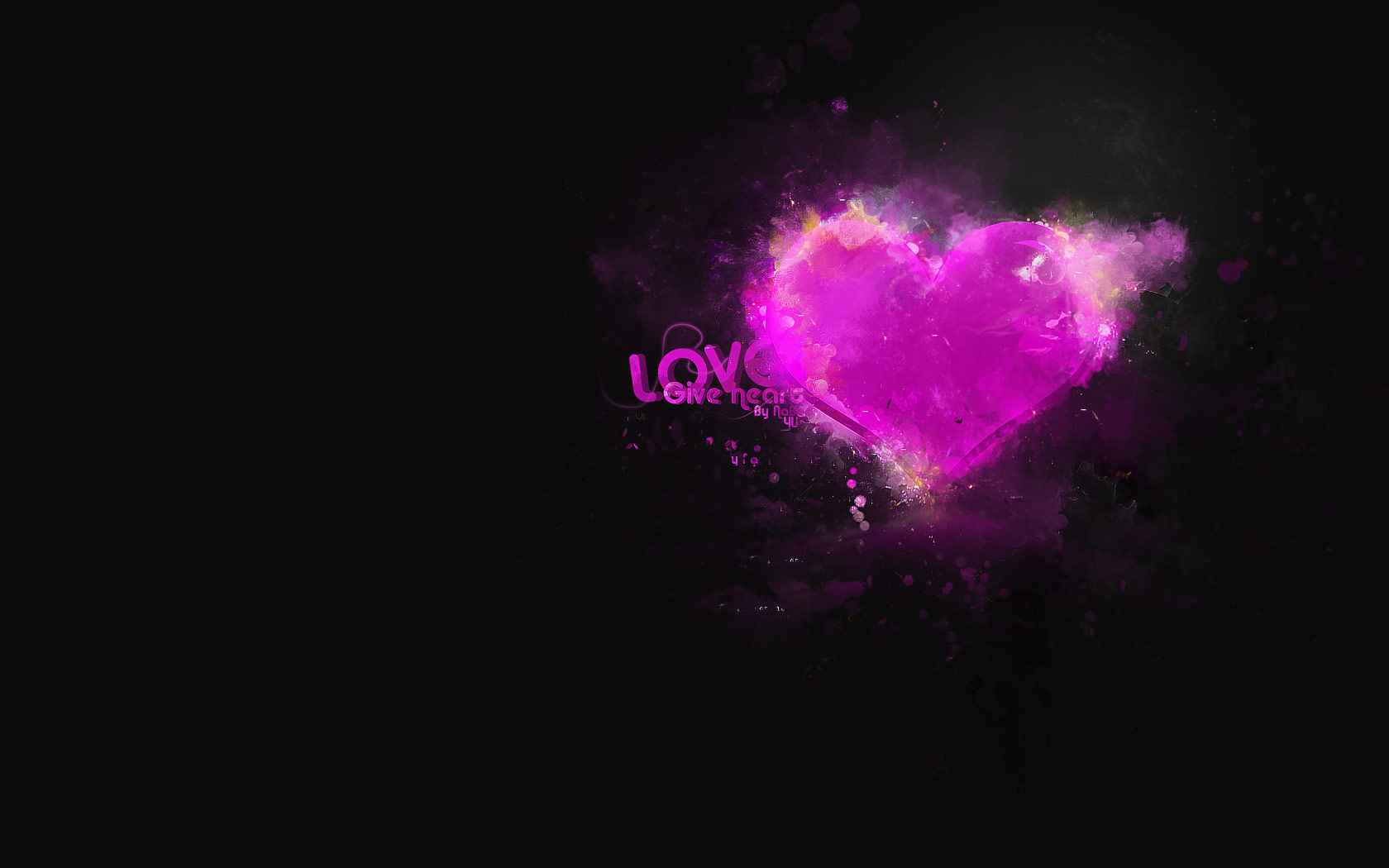 Hd Wallpaper Pictures Of Abstract Hearts Wallpaper