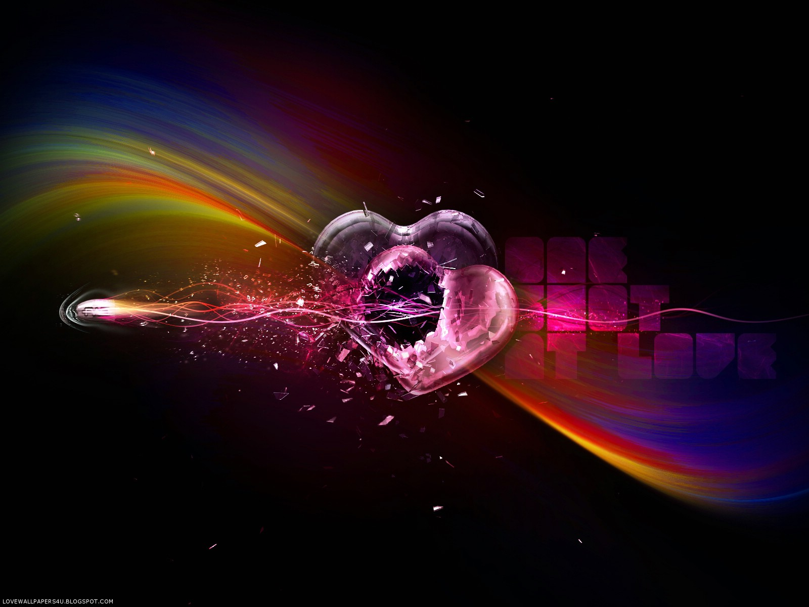 I Love You Free Abstract Wallpaper Background Wallpaper