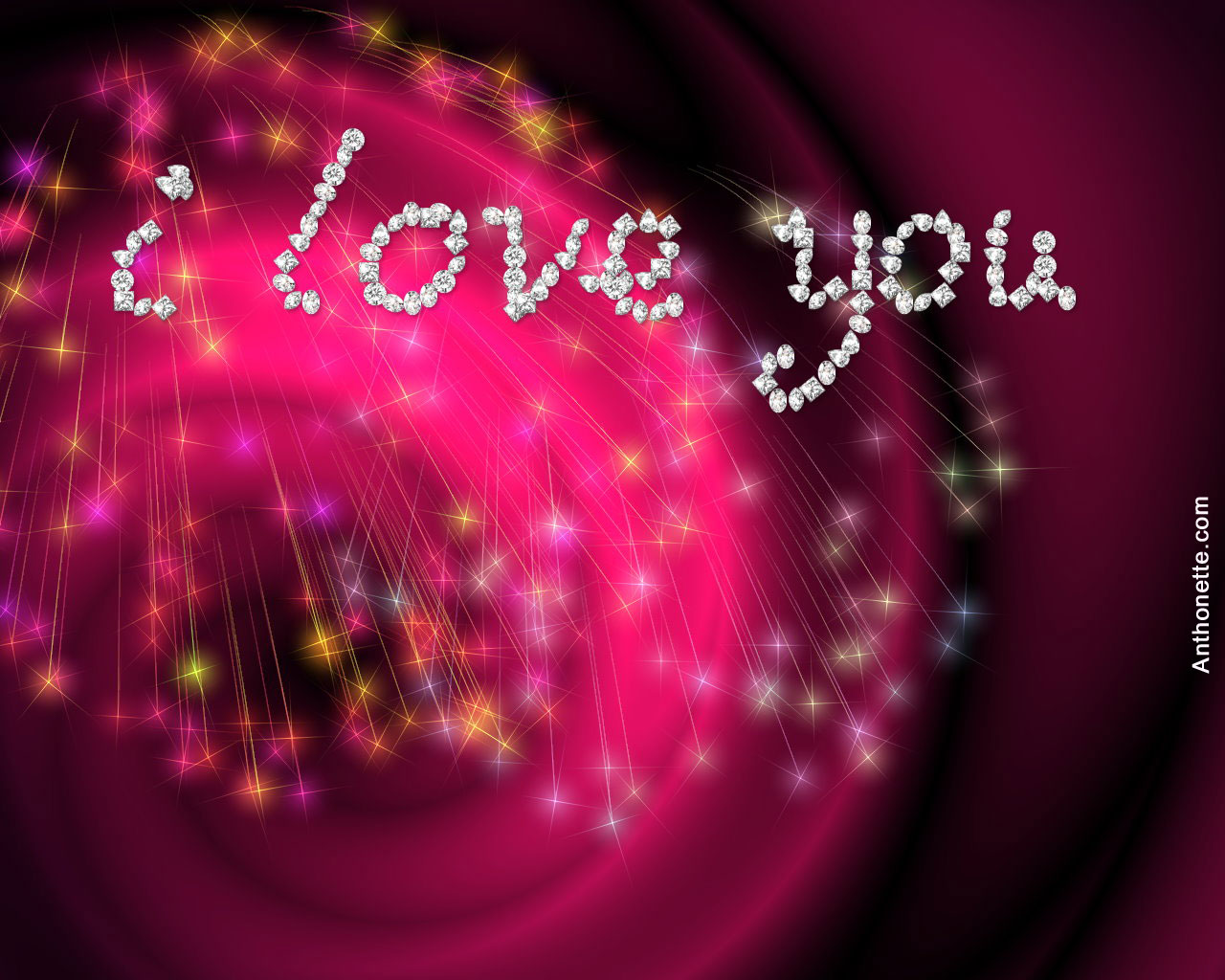 I Love You Free Abstract Wallpaper Desktop Wallpaper