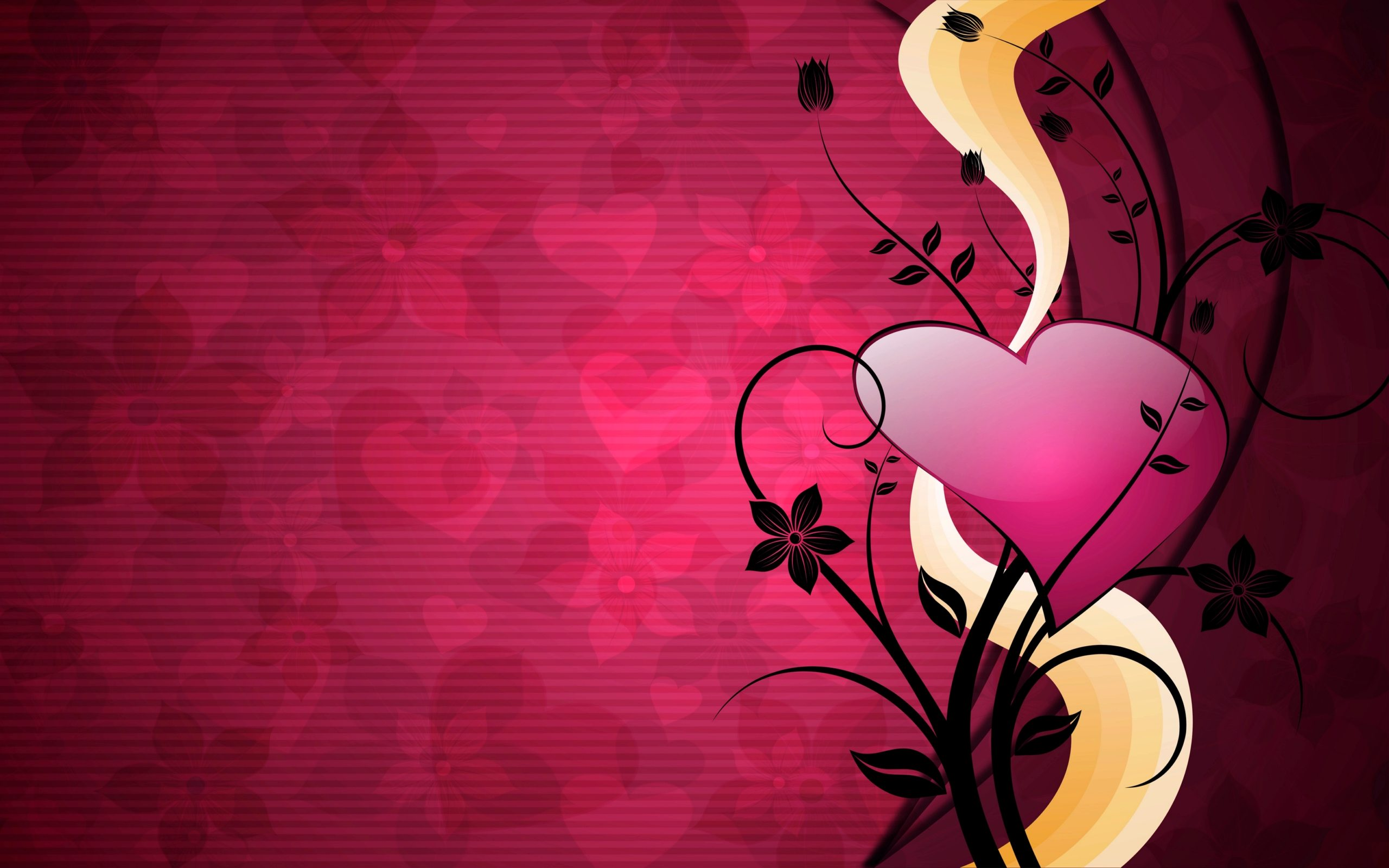 I Love You Pink Abstract Wallpapers Wallpaper