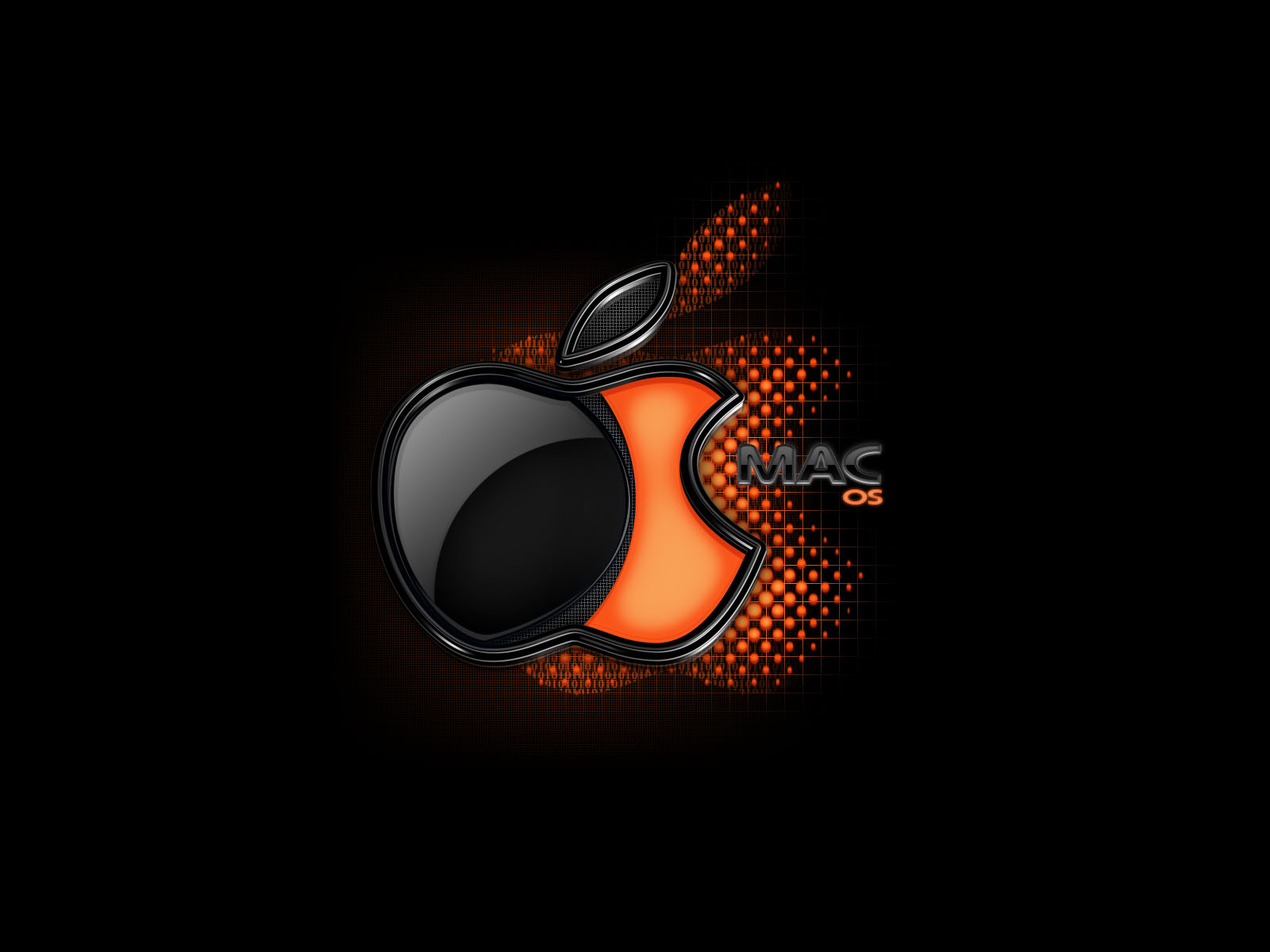 Mac Os X Simple Black Abstract Wallpaper Wallpaper