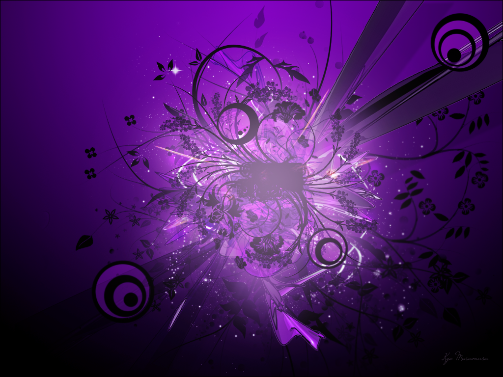 Purple Abstract Free Anime Wallpaper Desktop Wallpapers Wallpaper