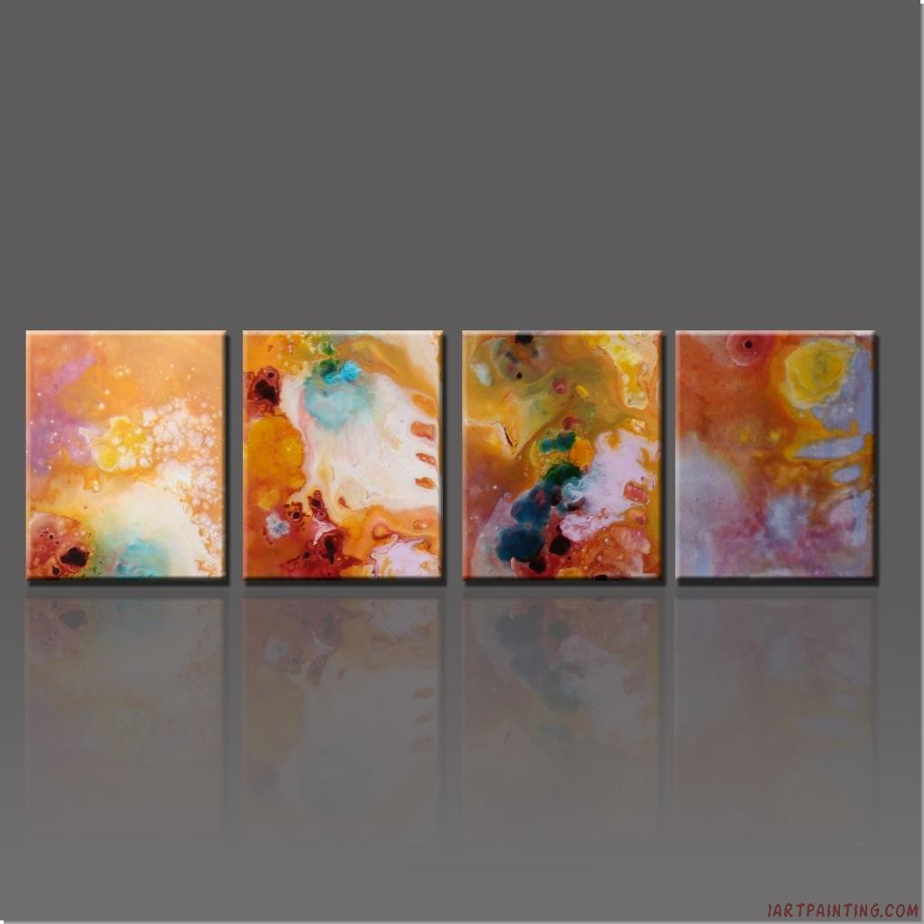 Wallpaper Acrylic Paintings Of Abstract Flowers Wallpaper