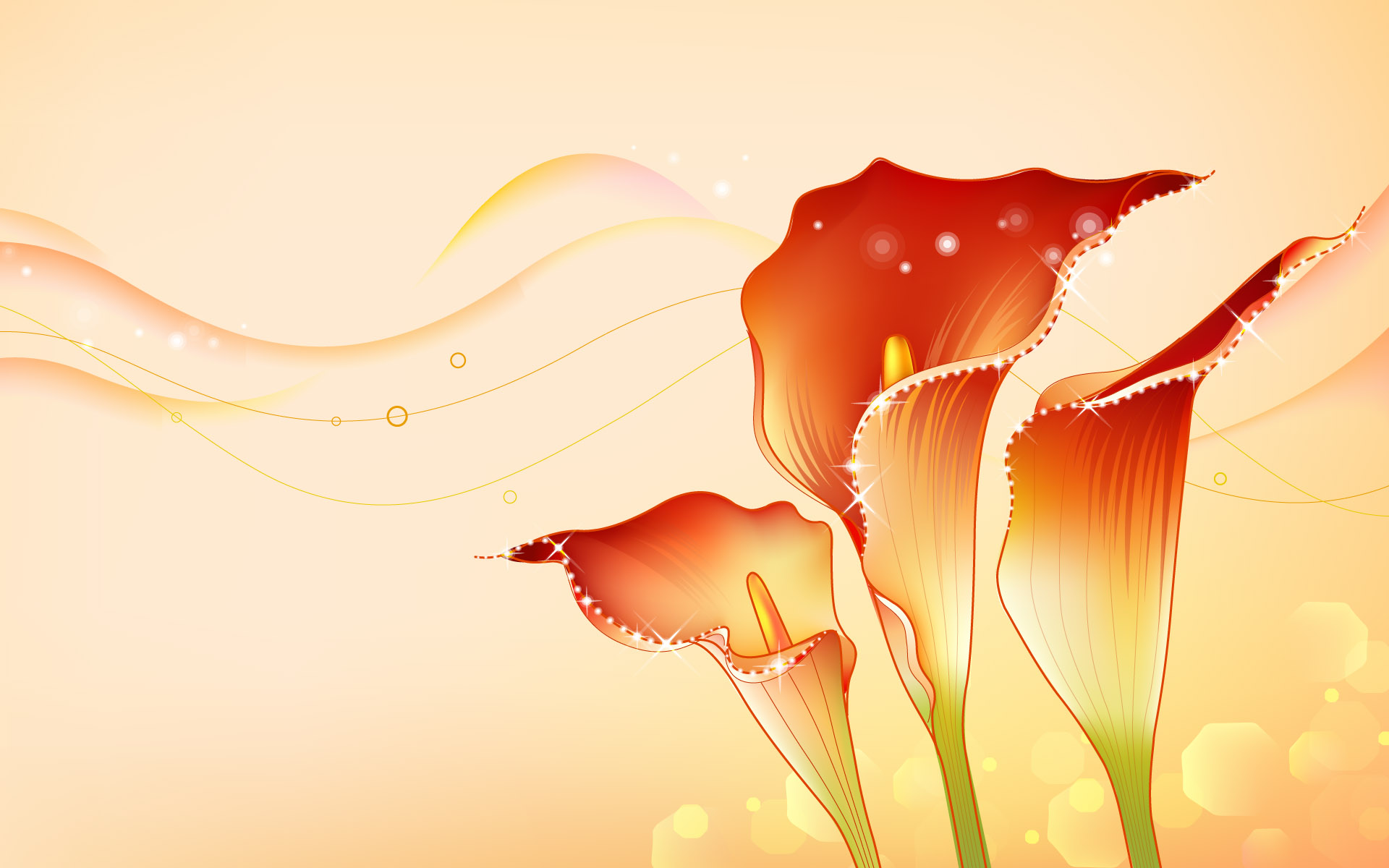 Wallpaper Design Photo : Wallpaper drawings of abstract flowers hd wallpapers