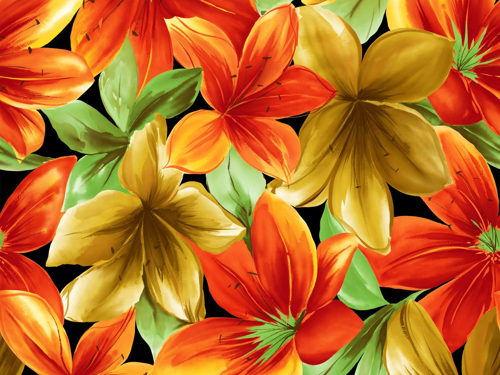 Wallpaper Oil Paintings Of Abstract Flowers Wallpaper
