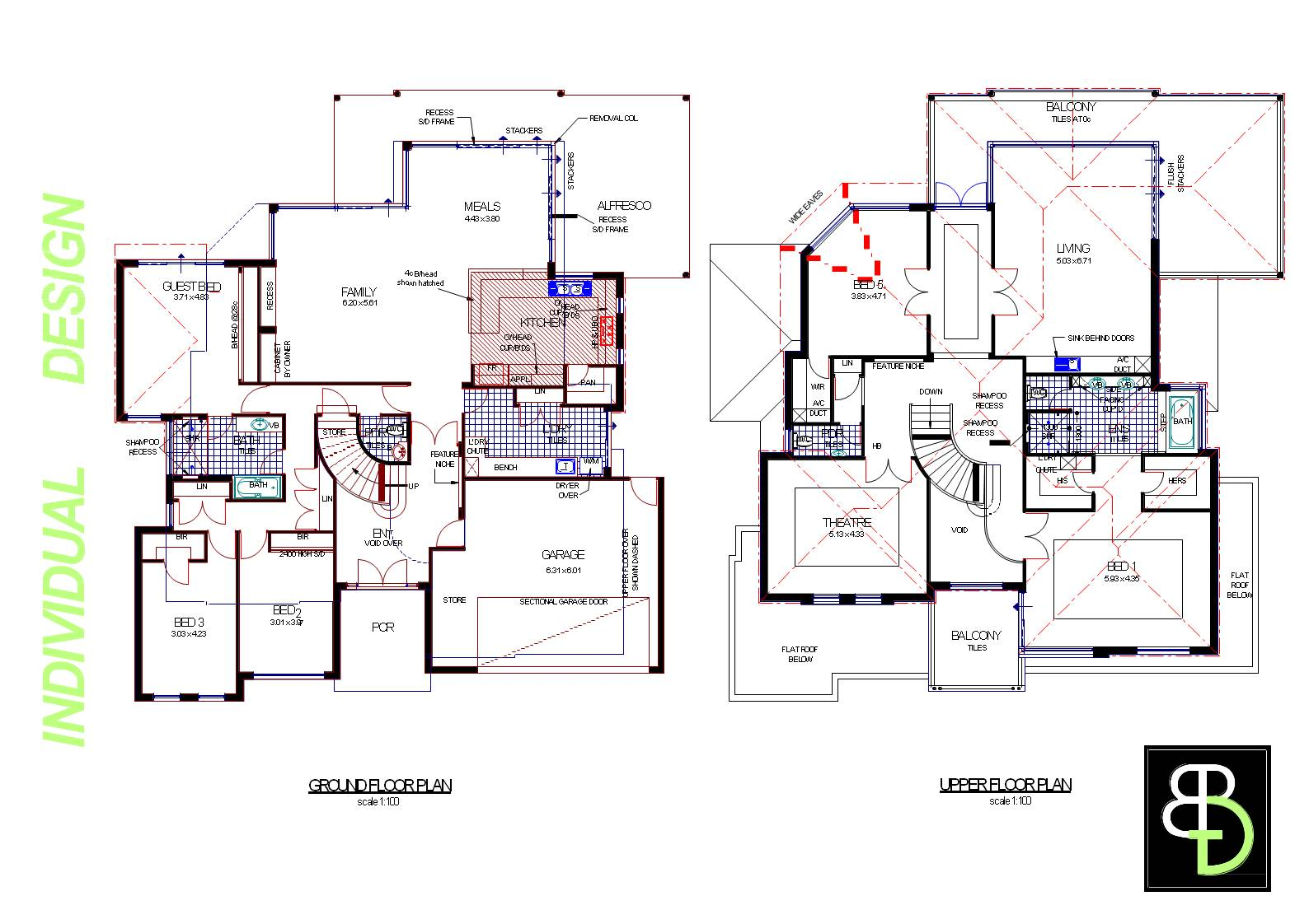Modal title Two story house plans