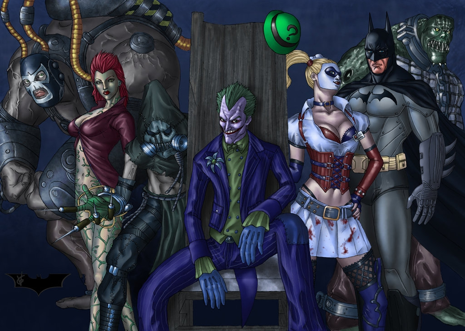 Batman Arkham Asylum Anime Hd 3d Wallpaper 1080p Wallpaper
