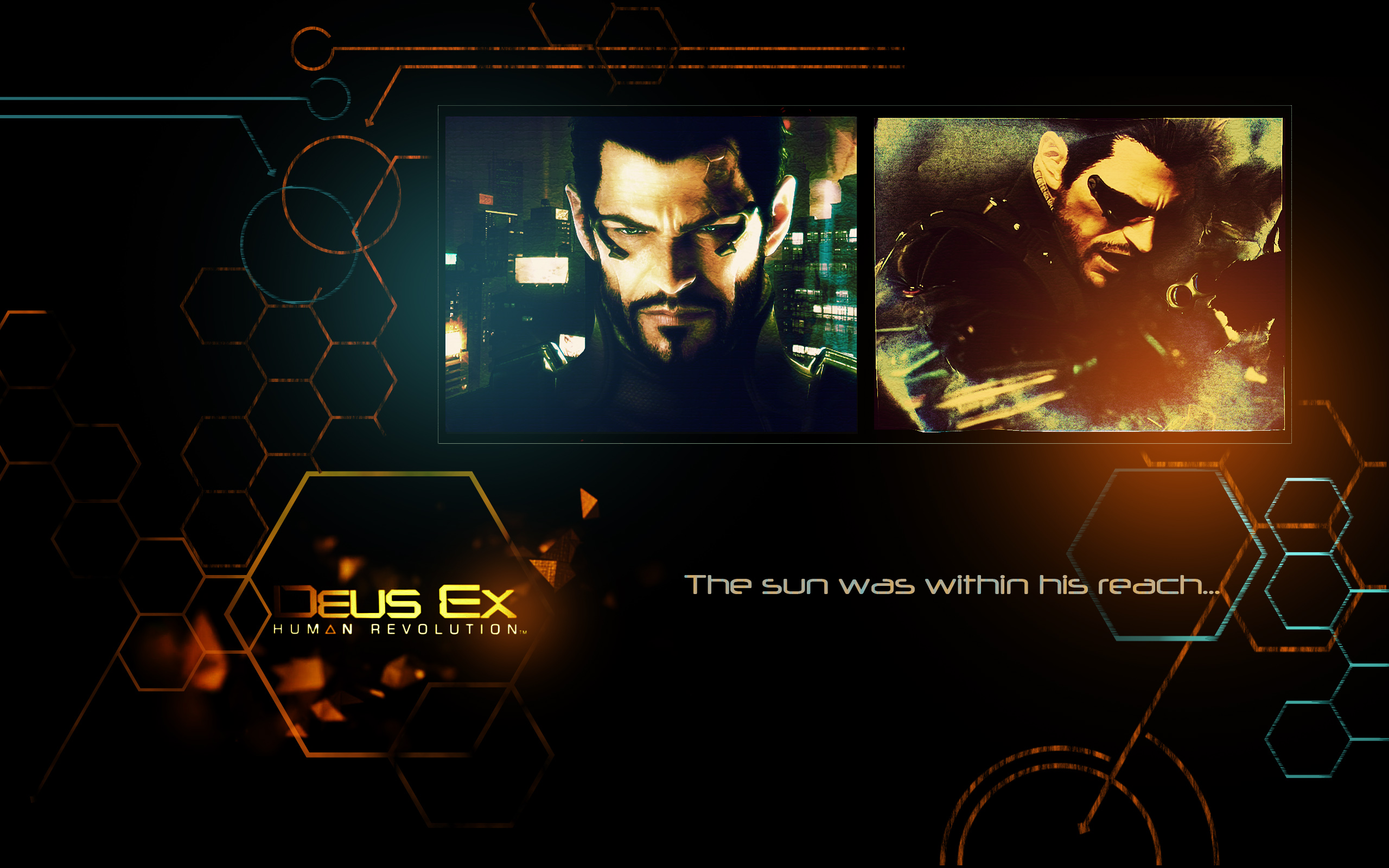 Deus Ex Human Revolution Anime Christmas Wallpaper Wallpaper
