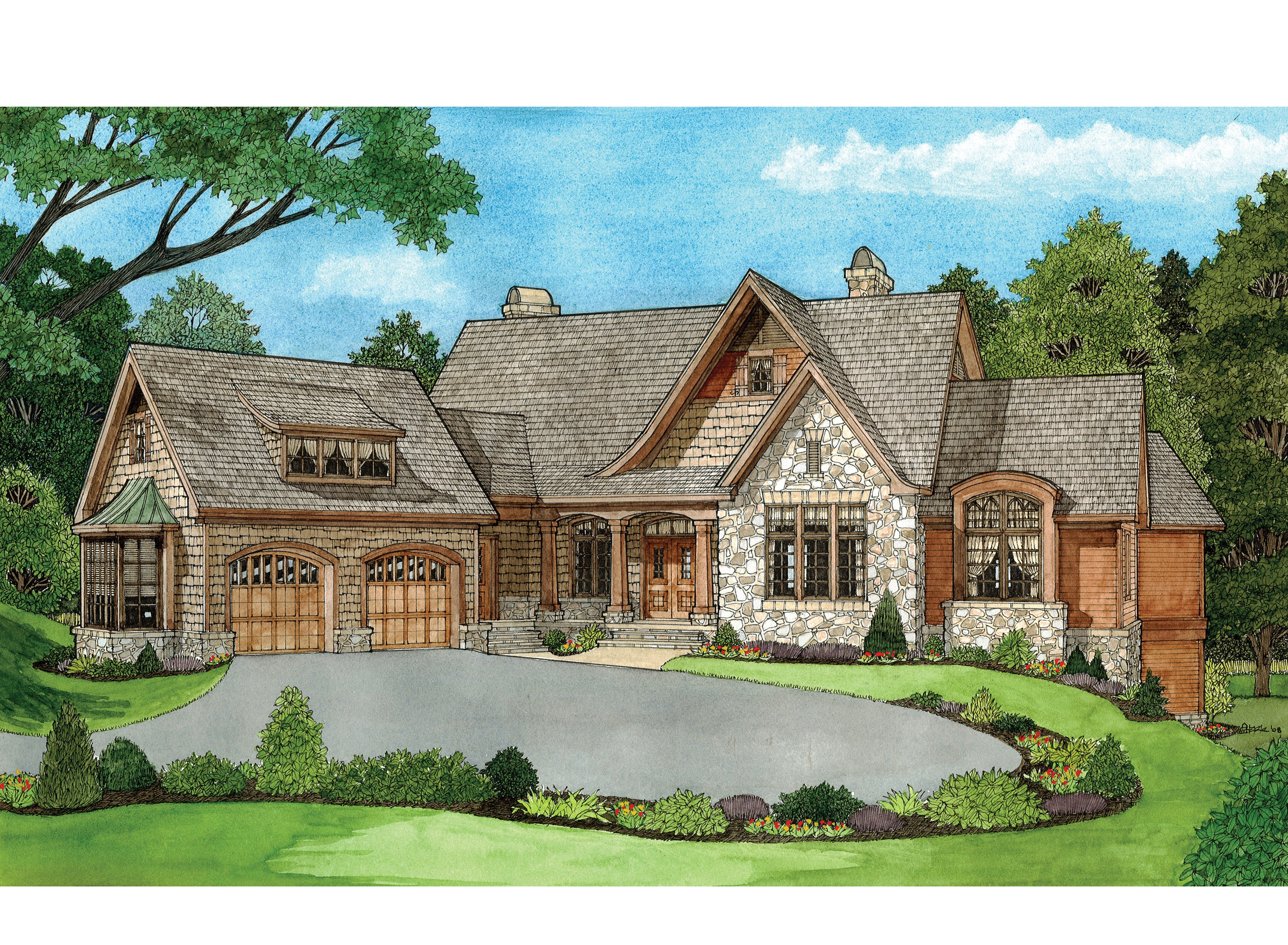 Hillside home designs 14 photo gallery house plans 78212 for Home plans gallery