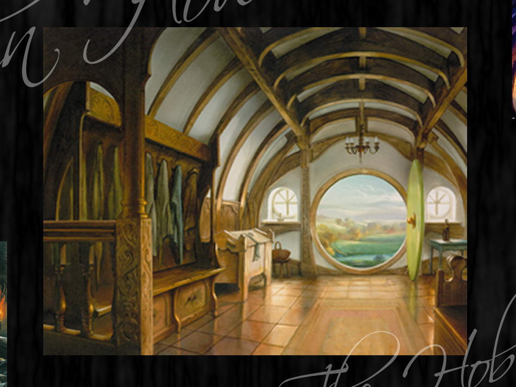 Hobbit Home Design Wallpaper