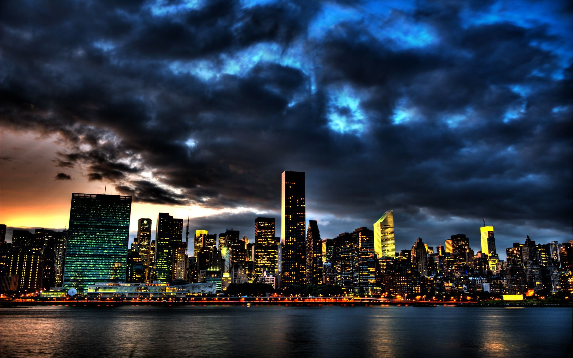 New York Skyline Hd Wallpaper 1080p Wallpaper
