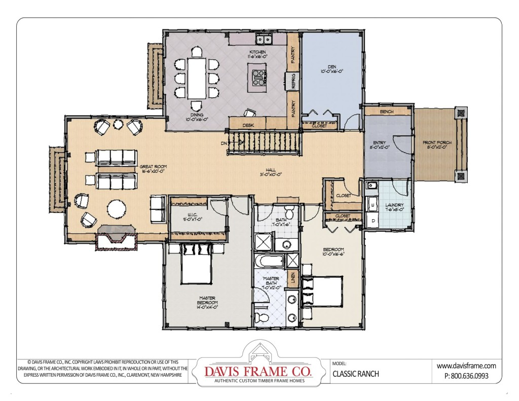 Free download ranch home designs floor plans 21 18914 for Free ranch house plans