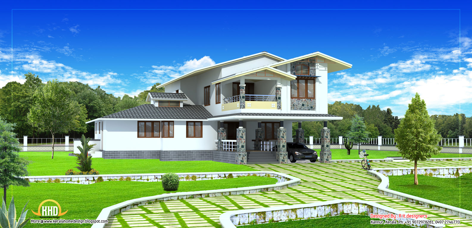 Two Story Home Designs Wallpaper