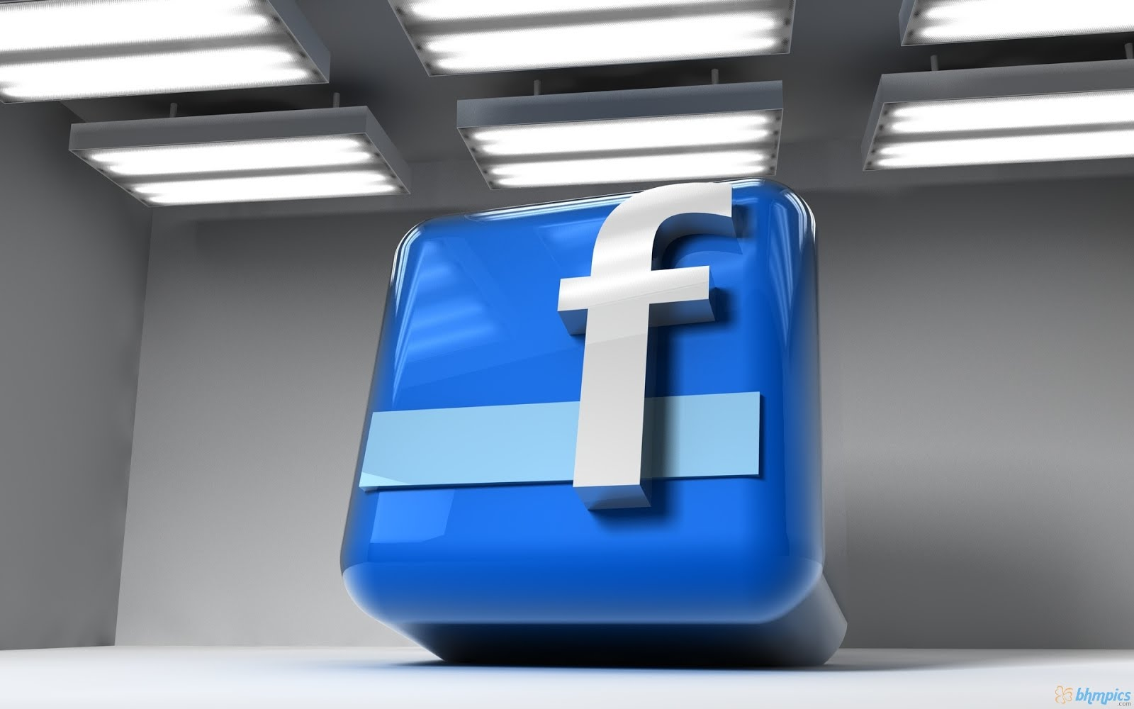 Facebook 3D Logo Hd Desktop Wallpaper 1080p Wallpaper