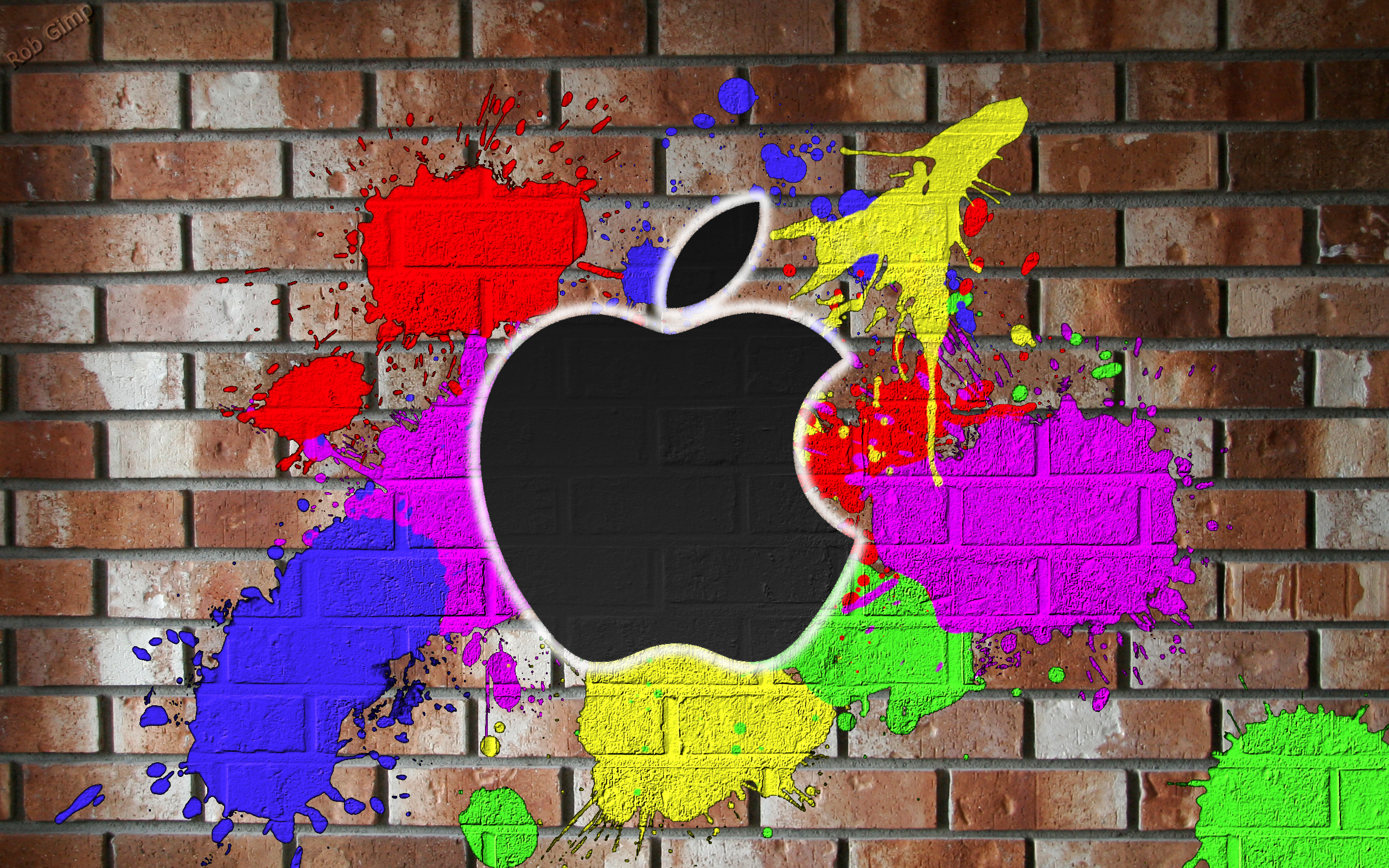 Apple Graffiti Wallpaper Wallpaper