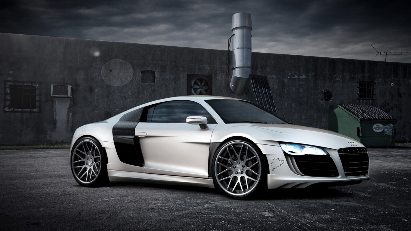 White Audi R8 Iphone Wallpaper