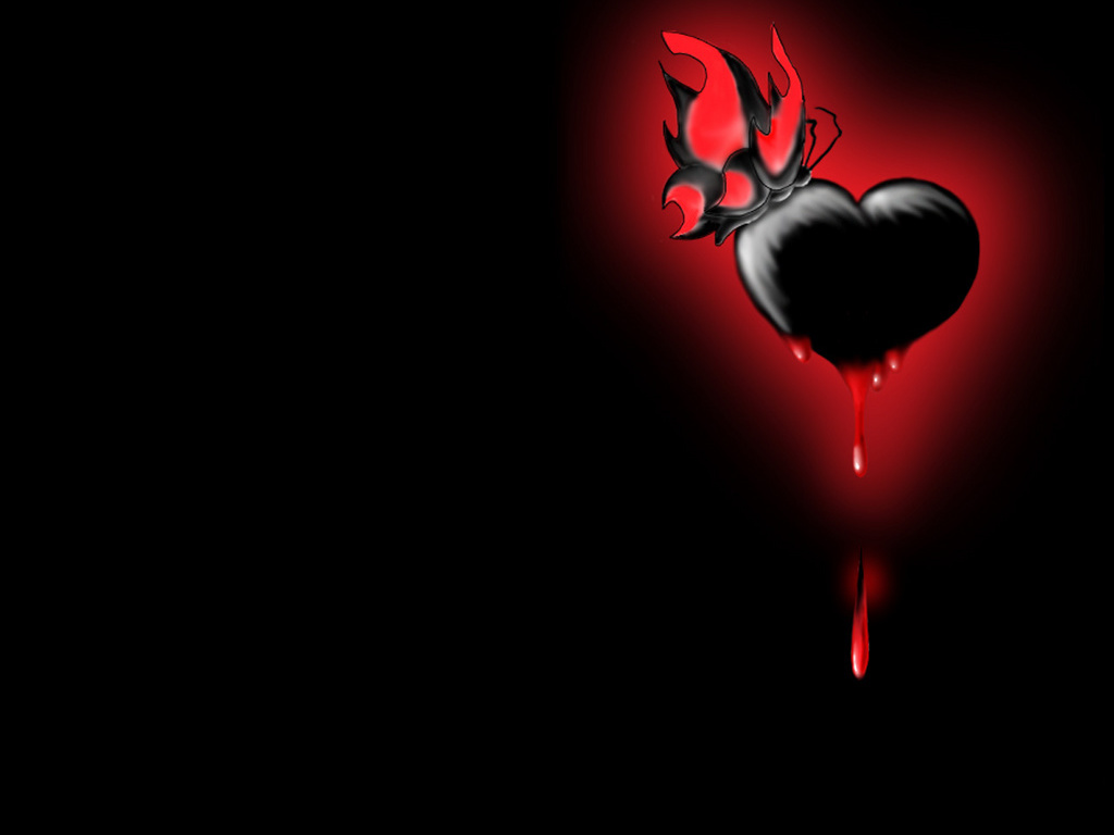 Black Heart Wallpaper #43623 Hd Wallpapers Background - HDesktops.com