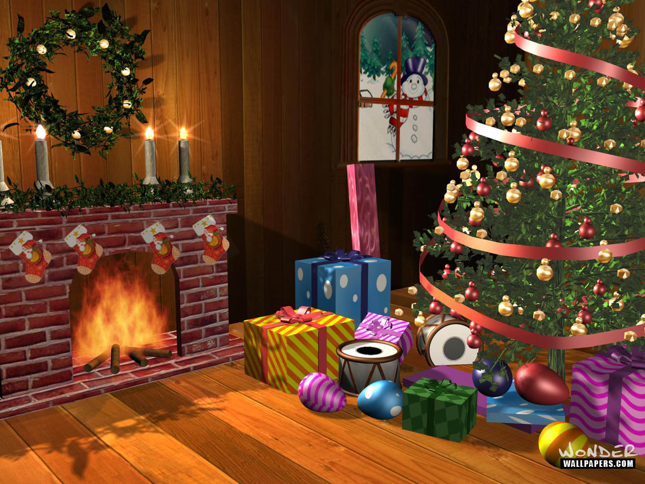 Christmas Desktops Wallpaper Wallpaper