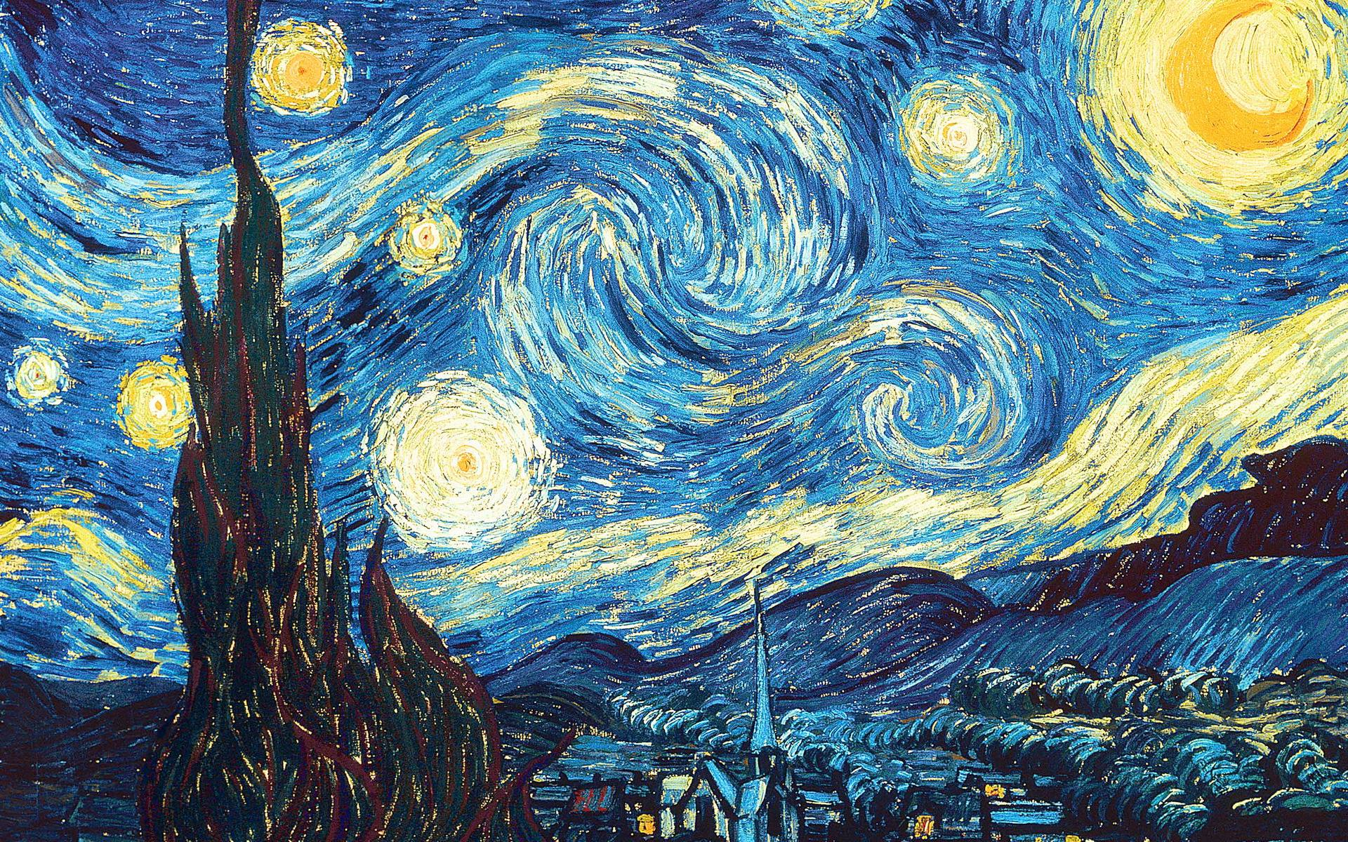 Starry Night Hd Wallpaper