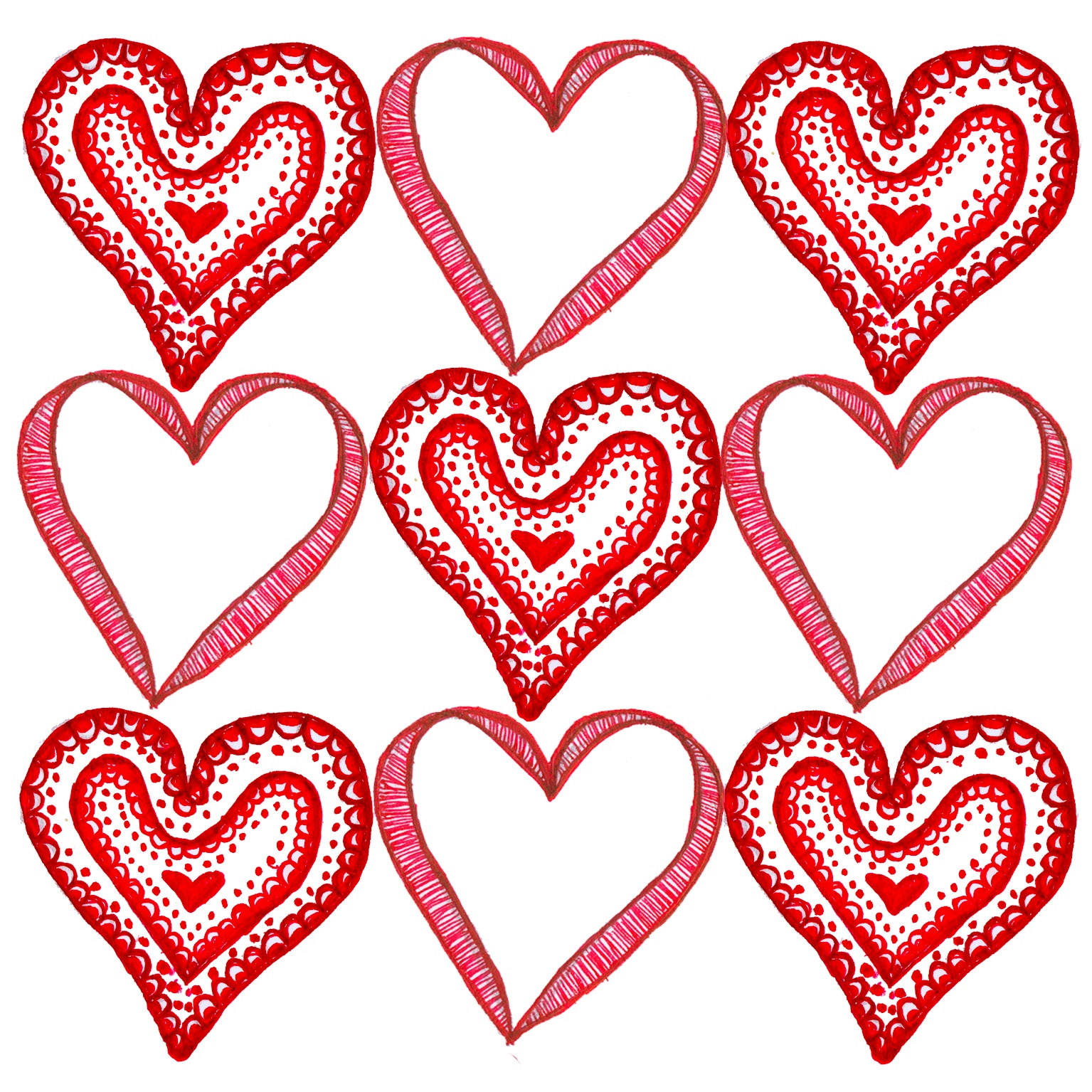 Valentines Day Love Hearts Wallpaper