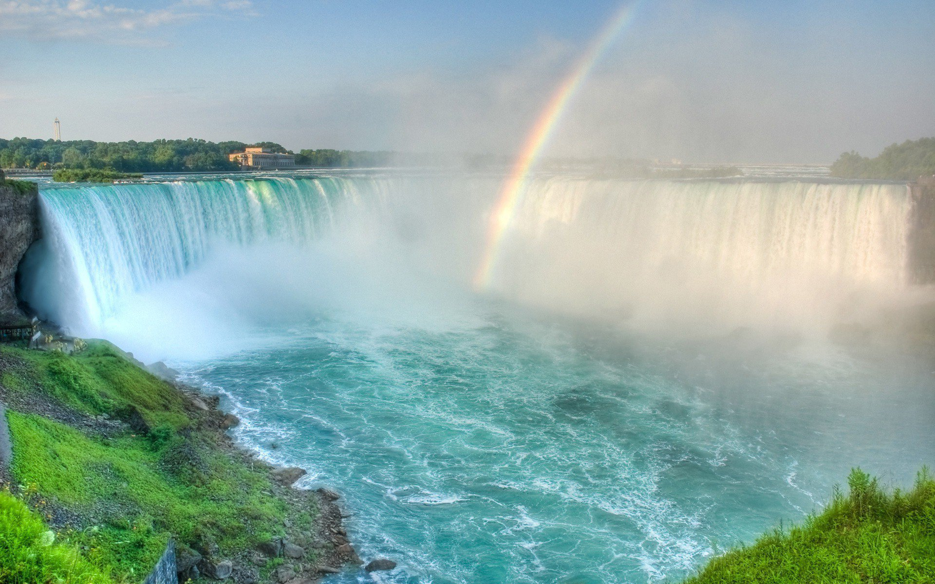 Niagara Falls HD Wallpaper Rainbow In The Niagara Falls HD Wallpaper