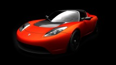 Red Tesla Roadster