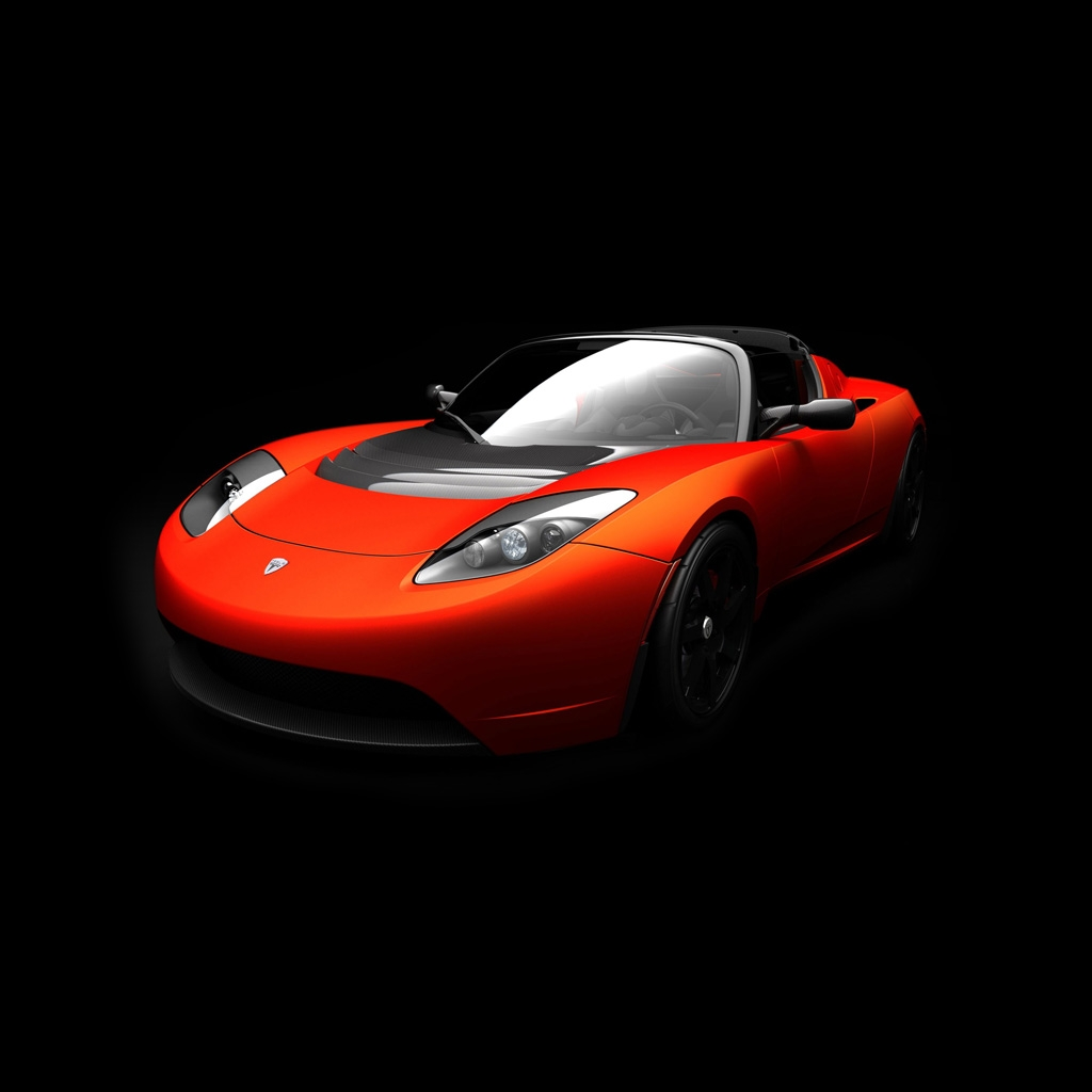 Red Tesla Roadster Wallpaper
